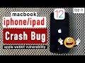 A webpage will crash any iphone | apple webkit vulnerability explain with demo in Hindi