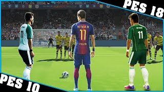 NEYMAR free kicks evolution [PES 10 - PES 18]