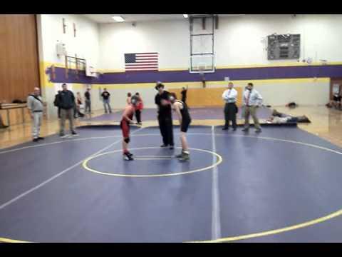 Wrestling- Wyatt Shelly Wins for Post Falls Middle School at Kellogg #2