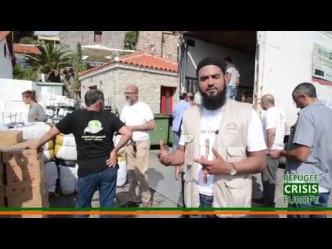 Refugee Crisis Europe: Muslim Charity in Molyvos, Lesvos Island, Greece