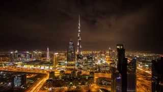 Clouds over Dubai, Burj Khalifa (Timelapse)