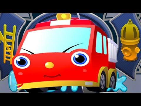 Игры пожарные машины. Пожарники тушат пожар. Пожарная техника для детей. Пожарная машина Финли.