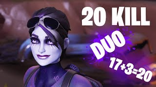 New Dark Bomber Skin (20 Bomb duo 17+3) - Fortnite Battle Royale Gameplay