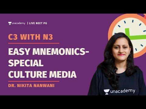 C3 with N3    Easy Mnemonics- Special Culture Media   Dr. Nikita Nanwani
