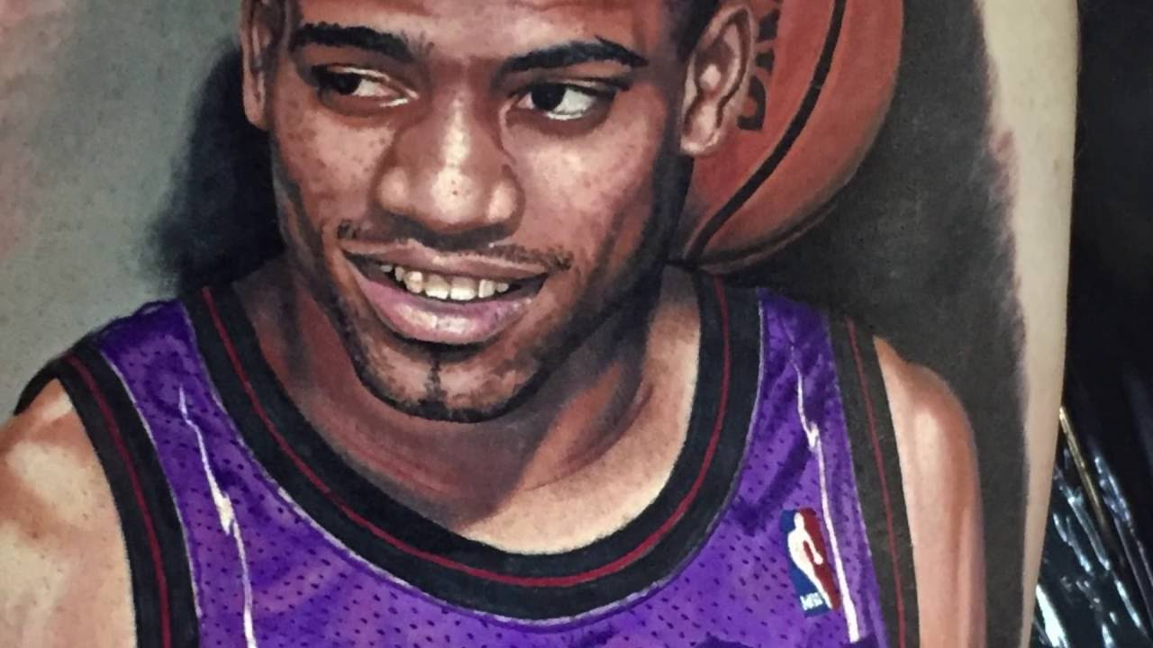 Tattoo shop owner gets vince carter portrait by steve for Steve s tattoo