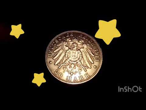 Coin collecting | Gold 20 mark Wilhelm II 1913