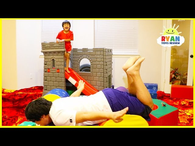 The Floor Is Lava Challenge Pretend Playtime With Ryan