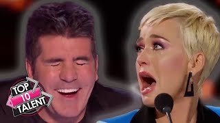 TOP 10 BEST Judge REACTIONS On Got Talent, X Factor And Idol!