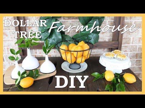 Dollar Tree DIY | DIY Farmhouse Decor | DIY Farmhouse Kitchen Dollar Tree