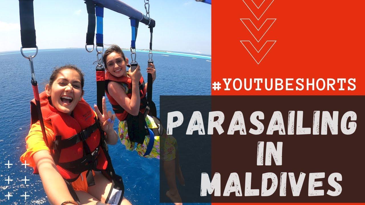 Parasailing In Maldives | YouTube shorts | Sharma Sisters | Tanya Sharma | Kritika Sharma