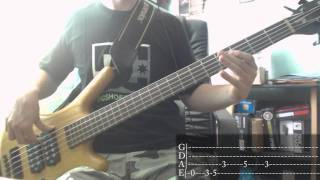 Incubus 11 Am Bass Cover + Tab