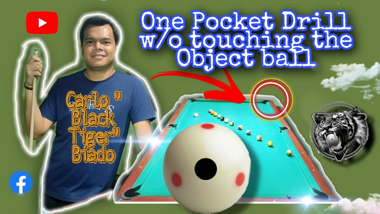 One Pocket Drill w/o touching the Object Ball of a WORLD CHAMPION Carlo