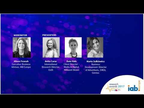 IAB Europe webinar Research Awards 2017 winners   Advertising Effectiveness and Cross device Measure