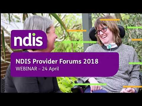 2018 NDIS Provider Webinar