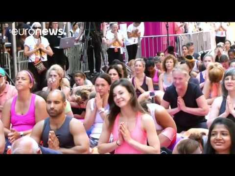 International Yoga Day celebrated around the world