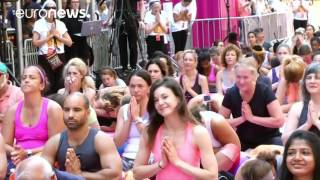 International Yoga Day celebrated around the world