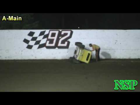 July 29, 2017 Shane Youngren PHRA Dwarf Car Flip Grays Harbor Raceway