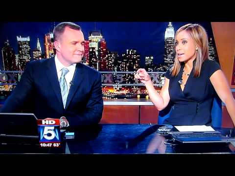 WNYW anchor Dari Alexander and her iPhone ringing live on 10 O'Clock News