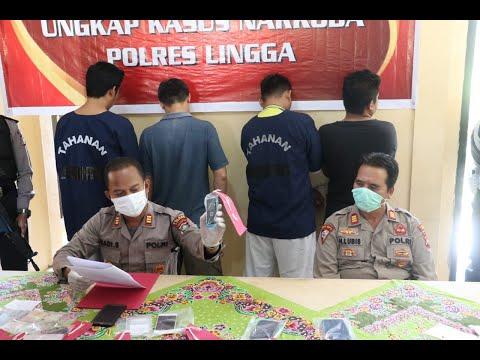 Polres Lingga Ringkus 5 Orang Terlibat Narkoba, Dua Diantaranya Oknum Polisi