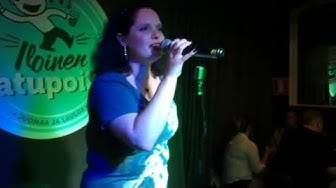 La Vero singing Élan - cover- karaoke bar - Helsinki 30june 2015