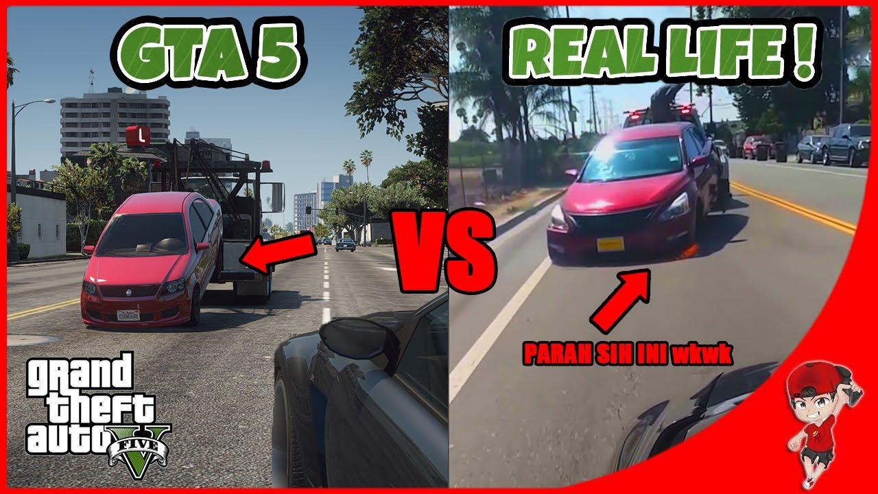 MIRIP PARAH SIH INI TAPI KOK ? wkwk - Reaction GTA 5 VS Real Life