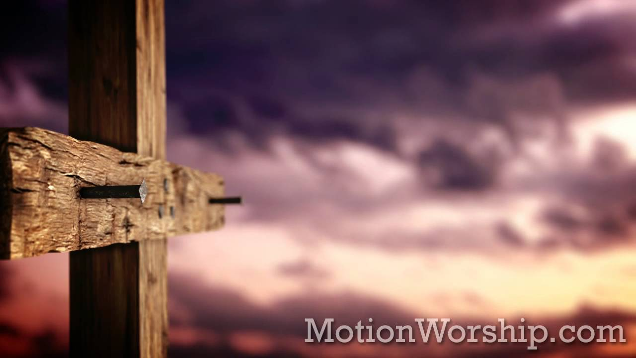 Rugged Cross Nails Sunset Hd Looping Background By Motion Worship You