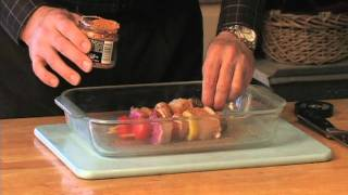 Cedar Wrapped Halibut Fish Kabobs