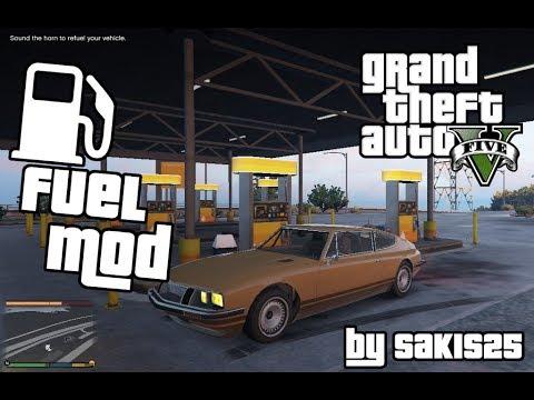 GTA 5 Mods: Fuel Script V Mod. УСТАНОВКА МОДА НА ТОПЛИВО В ГТА 5