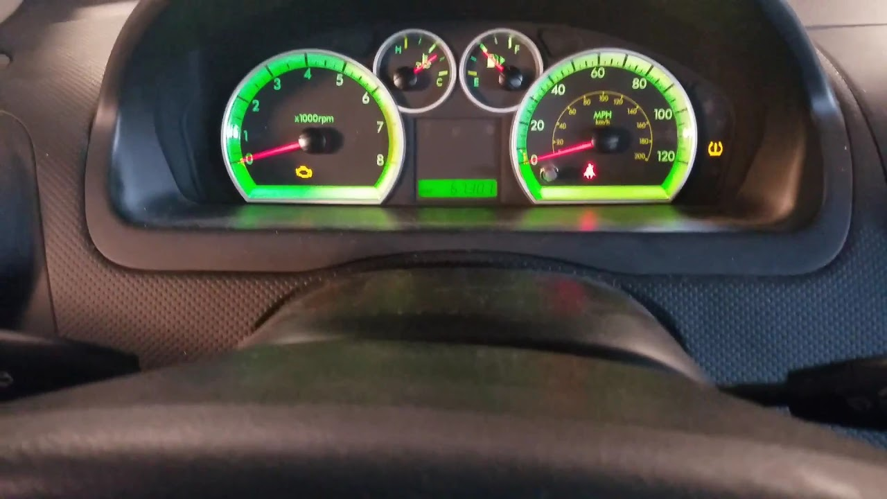 Reset Oil Light 2009 Chevy Aveo Youtube