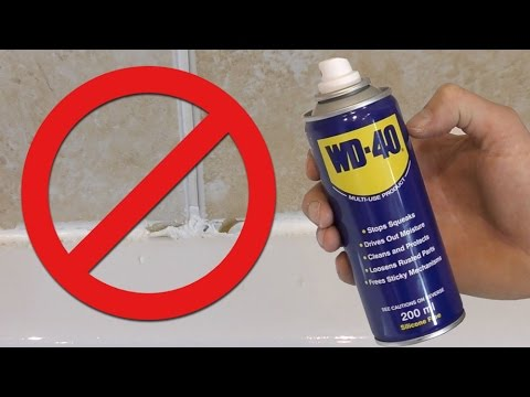 WARNING WD-40 silicone remover FAIL