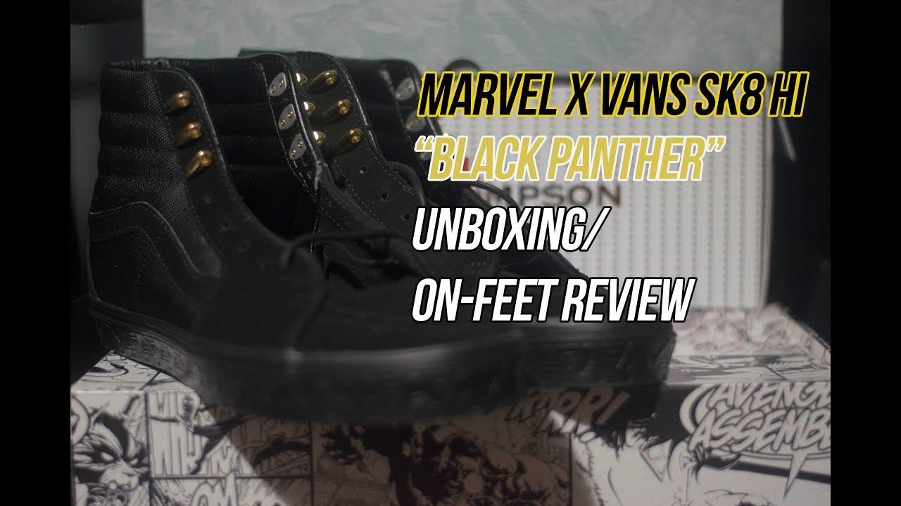 ce952eedb84 Marvel x Vans Sk8 Hi  Black Panther