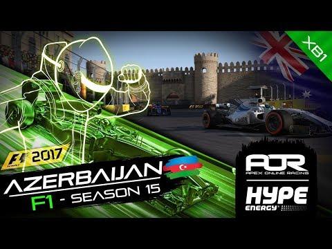 F1 2017 | AOR Hype Energy F1 Leagues | XB1 Oceania S2 | R3: Azerbaijan GP