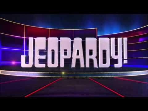 Jeopardy intro with host introduction