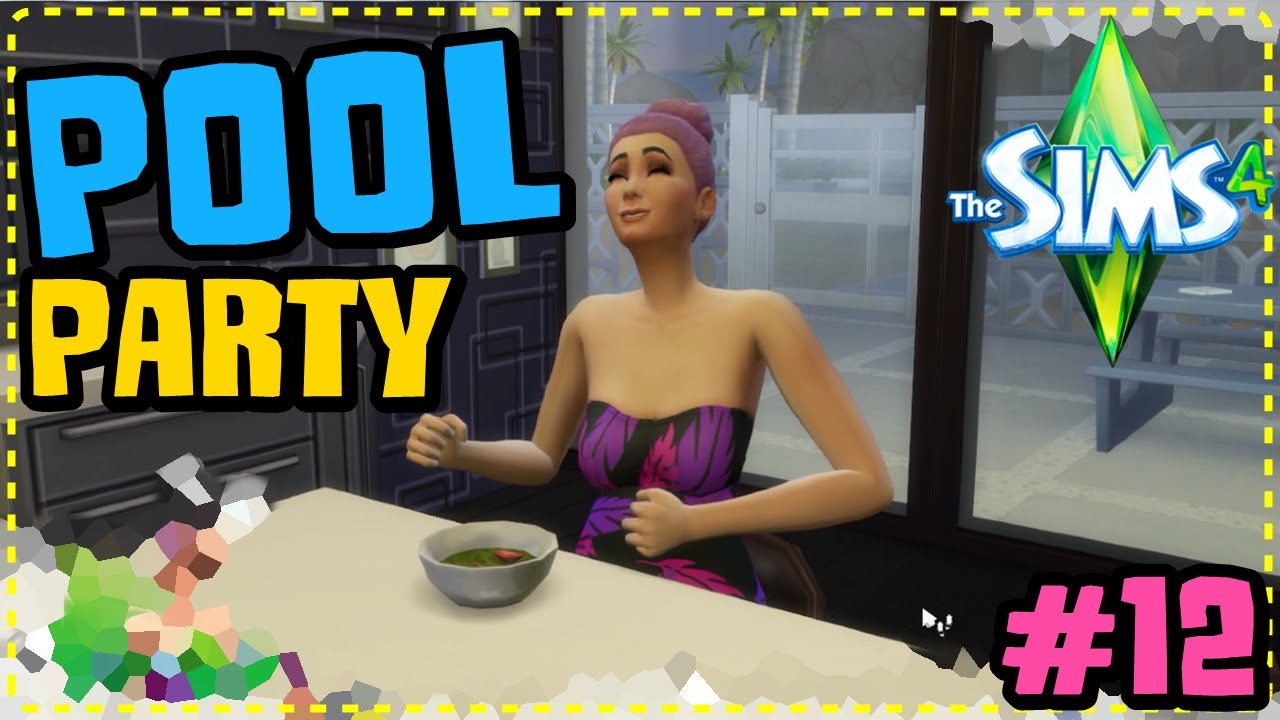 Poolparty festa na piscina 12 the sims 4 youtube for Piscina sims 4