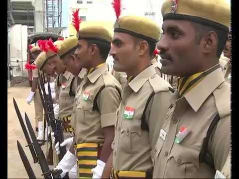 Vijayawada police parade ground flag hosting CP Gautam Sawang