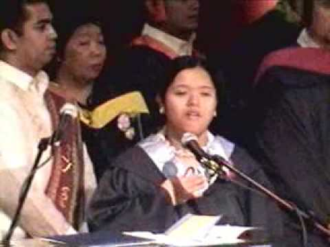 "Nastassha S. Teodosio Performing ""Ako ay Pilipino"" in her  Graduation"