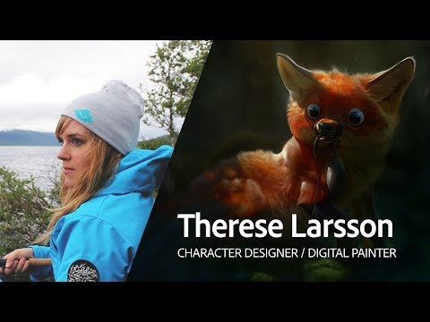 Live Digital Painting with Therese Larsson 1/3