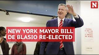 Bill de Blasio re-elected as New York City mayor in landslide victory