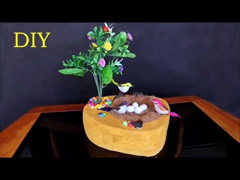 Sparrow Nest Making at Home || DIY Room Decor Idea 2018 || Handmade craft Idea