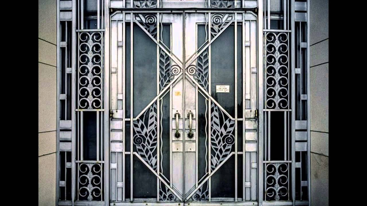 Simple art deco door decor ideas youtube for Art deco interior doors home