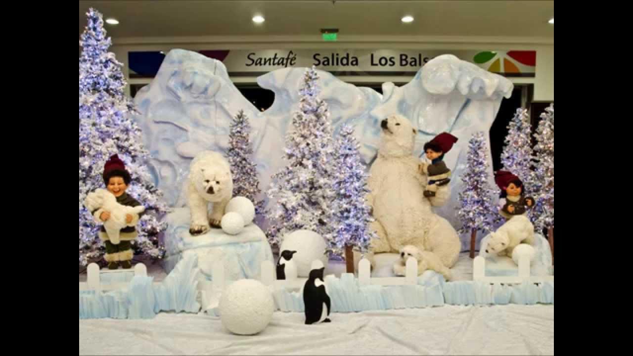 Navidad centros comerciales youtube for Decoracion de locales para navidad