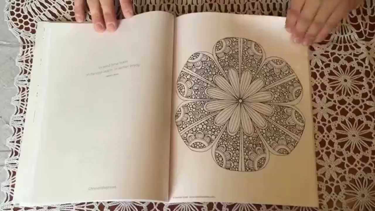 Overview of the adult colouring book called Creative coloring Mandalas by  Valentina Harper.