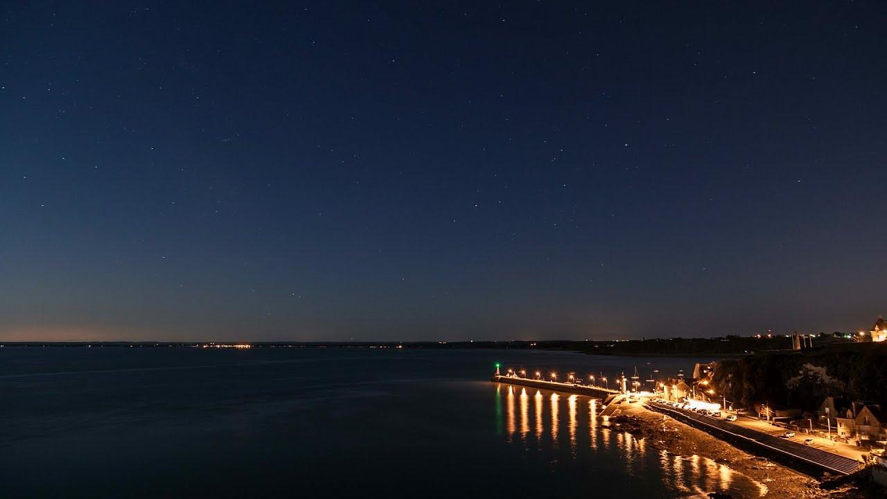 Marina clear sky starry night 4k royalty free footage - Starry sky 4k ...