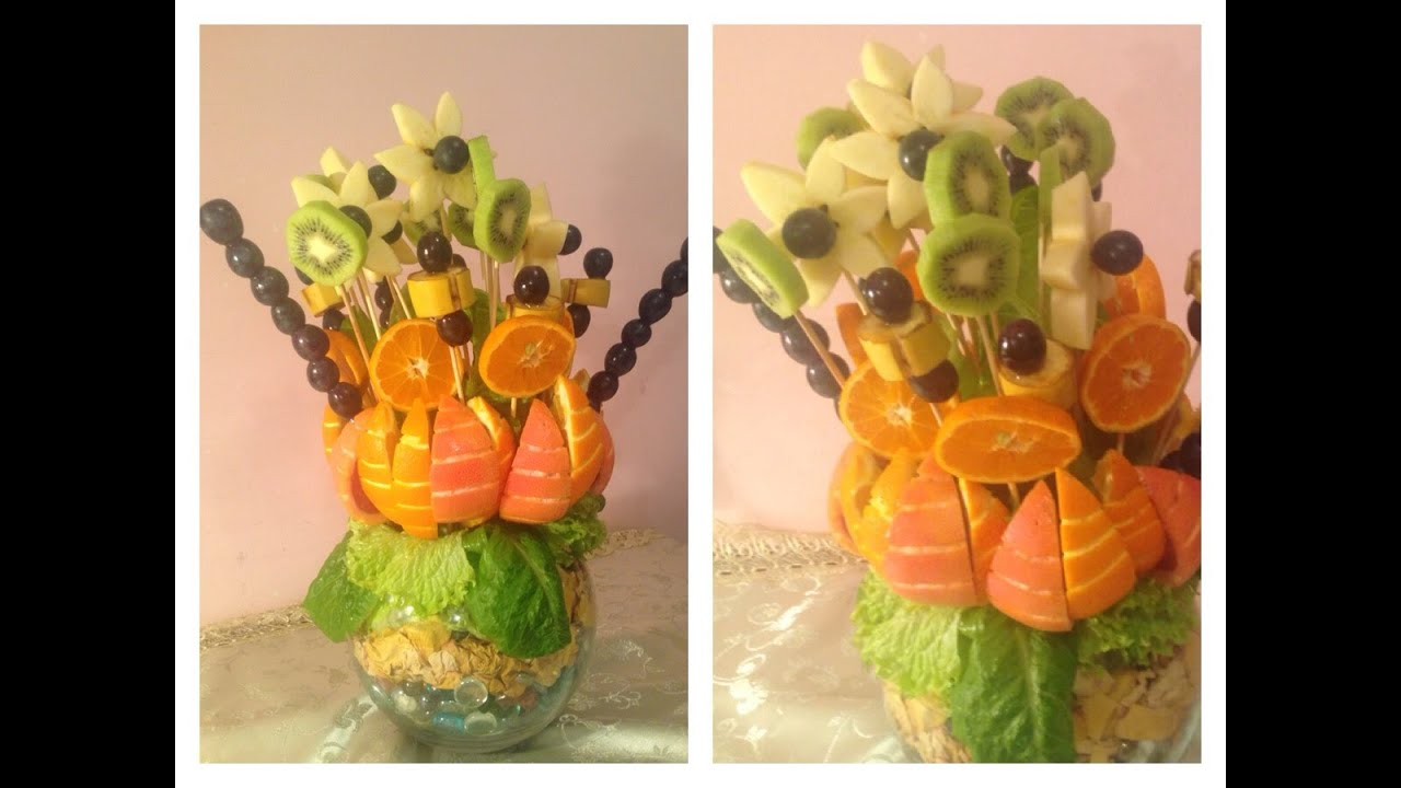 How to make a bouquet of fruit: step by step instructions 4