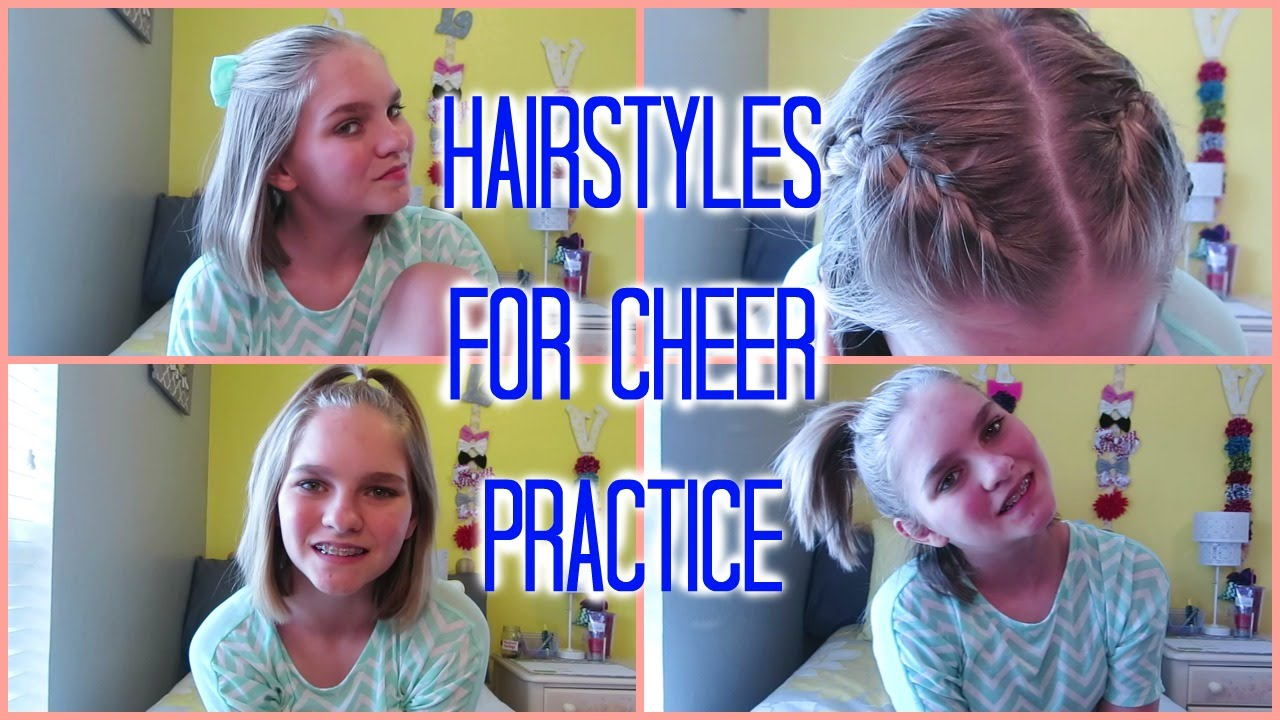 hairstyles for cheer practice