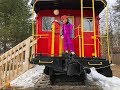 Lincoln, NH Caboose Tiny House, Hike and ropes course