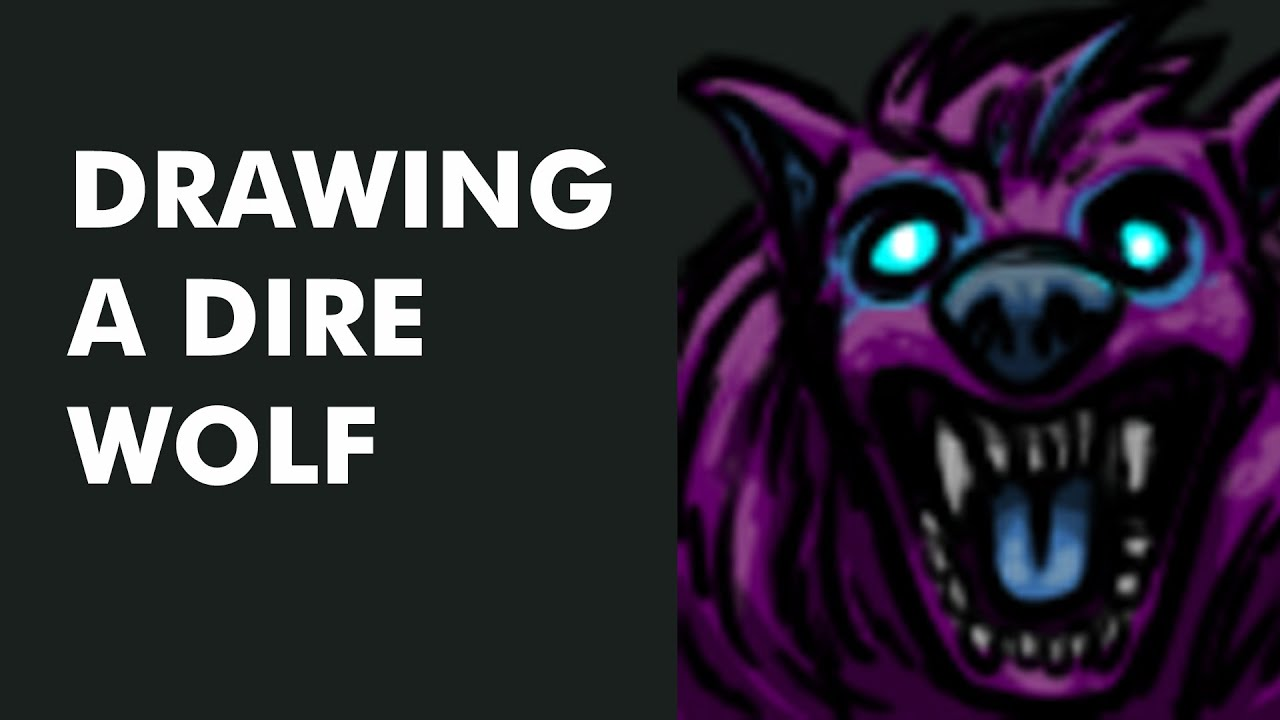 Drawing A Dire Wolf Video Day 120