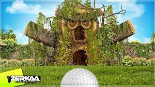 GIANT WOODEN MAN IN GOLF! (Golf It)