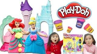 Paula姐姐|培樂多玩具介紹|迪士尼公主魔術城堡遊戲玩具組|玩具開箱|小美人魚|灰故娘|長髮公主的城堡玩具 play-doh disney 開箱玩具就在Sunny Yummy Kids TOYs