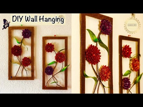 Diy Wall Hanging Crafts | Crafts with Recycled Materials | Paper Crafts | diy wall decor